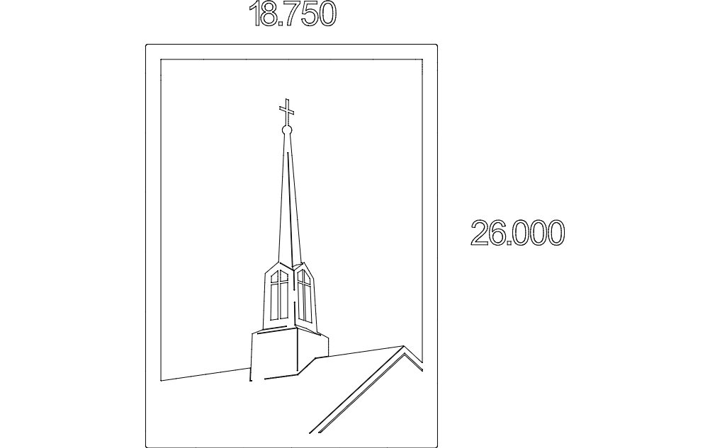 Steeple Tower Free DXF File