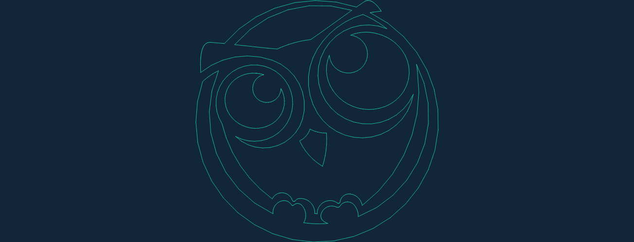 The Owl Drawing Free DXF File