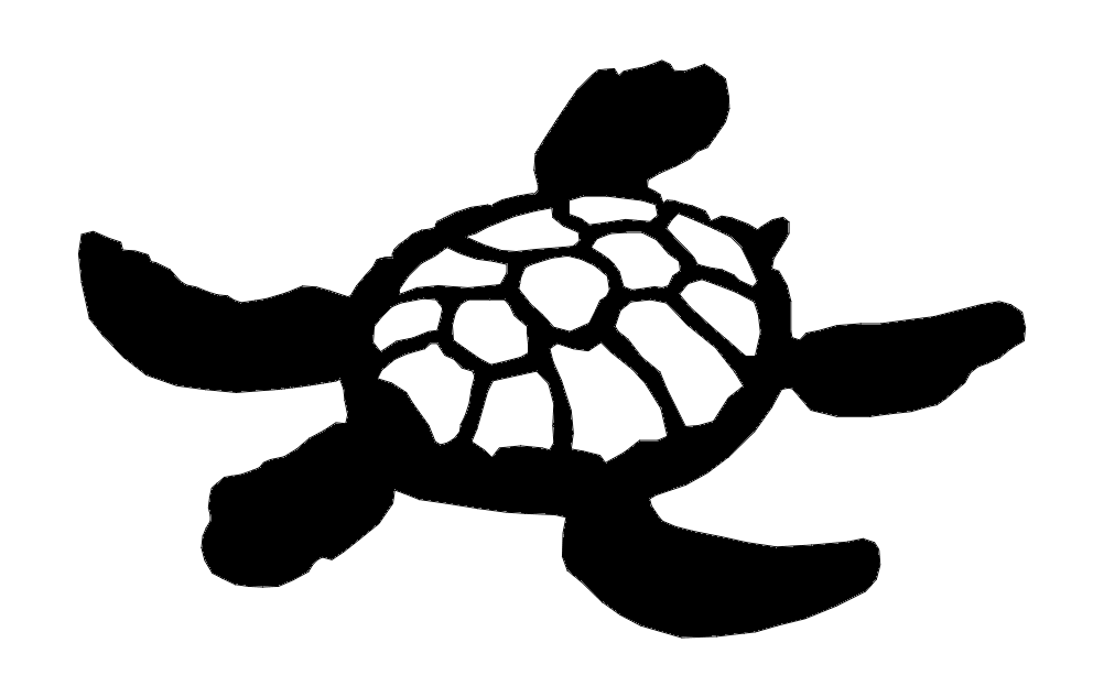 Turtle Silhouette Animal Free DXF File