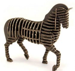 3d Puzzle Horse Model For Laser Cut Free CDR Vectors Art