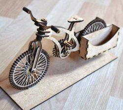 Bicycle Postman For Laser Cut Free CDR Vectors Art