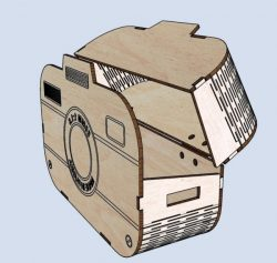 Camera Box For Laser Cut Cnc Free CDR Vectors Art
