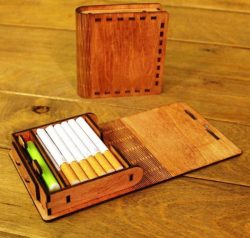 Cigarette Case For Laser Cut Free CDR Vectors Art