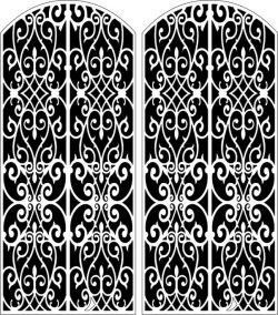 Design Pattern Door 156 For Laser Cut Cnc Free CDR Vectors Art