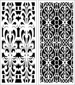Design Pattern Panel Screen 053 For Laser Cut Cnc Free CDR Vectors Art