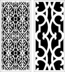Design Pattern Panel Screen 056 For Laser Cut Cnc Free CDR Vectors Art