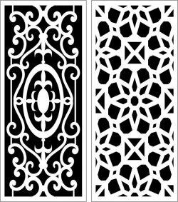 Design Pattern Panel Screen 057 For Laser Cut Cnc Free CDR Vectors Art