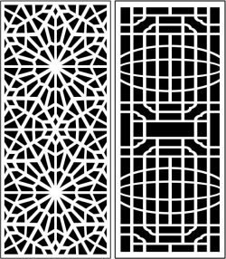Design Pattern Panel Screen 060 For Laser Cut Cnc Free CDR Vectors Art