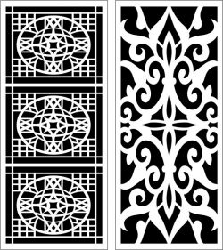 Design Pattern Panel Screen 064 For Laser Cut Cnc Free CDR Vectors Art