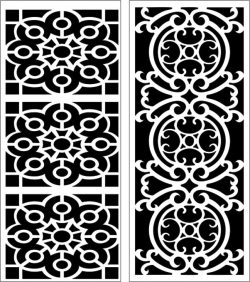 Design Pattern Panel Screen 159 For Laser Cut Cnc Free CDR Vectors Art