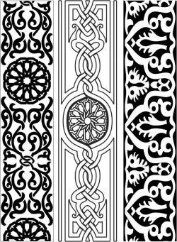 Design Pattern Woodcarving 151 For Laser Cut Cnc Free CDR Vectors Art