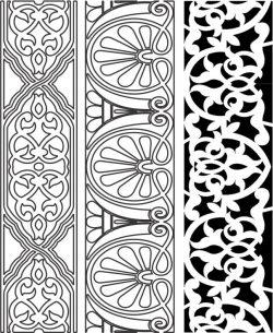 Design Pattern Woodcarving 444 For Laser Cut Cnc Free CDR Vectors Art