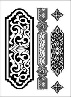 Design Pattern Woodcarving 0616 For Laser Cut Cnc Free CDR Vectors Art