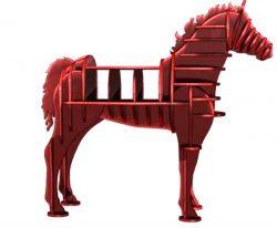 Horse Shelves For Laser Cut Cnc Free CDR Vectors Art