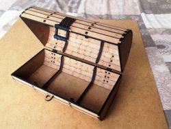 Pirate Treasure Chest For Laser Cut Cnc Free CDR Vectors Art
