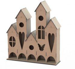 Plywood Tea House For Laser Cut Cnc Free CDR Vectors Art