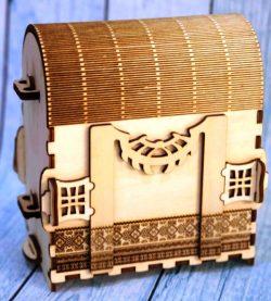 Plywood Travel Bag For Laser Cut Cnc Free CDR Vectors Art