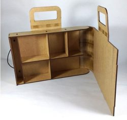 Portable Suitcase Made Of Wood For Laser Cut Cnc Free CDR Vectors Art