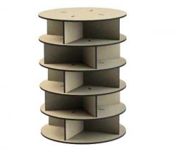 Product Display Shelves Round For Laser Cut Cnc Free CDR Vectors Art
