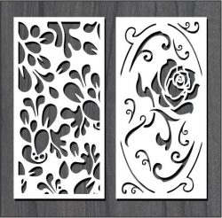 Roses In Leaf Dust For Laser Cut Cnc Free CDR Vectors Art