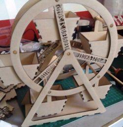 Rotating Wheel Display Shelf For Laser Cut Cnc Free CDR Vectors Art