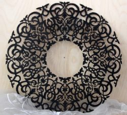 Round Abstract Pattern For Laser Cut Plasma Free CDR Vectors Art