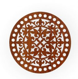 Round Tray Pattern For Laser Cut Cnc Free CDR Vectors Art