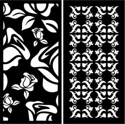 Sample Partition Screens With Roses For Laser Cut Cnc Free CDR Vectors Art