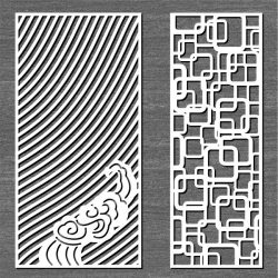 Screen Ripples And Connected Squares For Laser Cut Cnc Free CDR Vectors Art