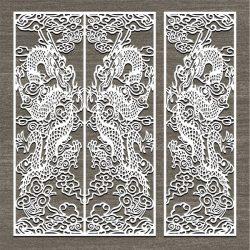 Screen Style Dragon Oriental For Laser Cut Cnc Free CDR Vectors Art