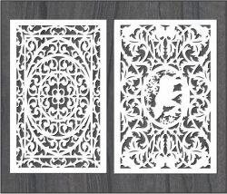 Screen Wind Pattern Bear For Laser Cut Cnc Free CDR Vectors Art