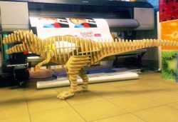 3d Puzzle Tyrannosaurus For Laser Cut Cnc Free DXF File