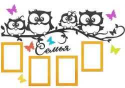 Birds On Tree Branch Photo Frames For Laser Cut Free DXF File