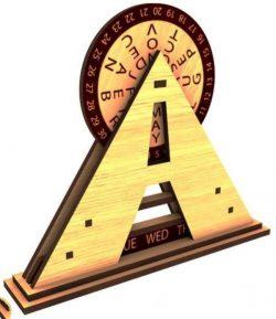 Calendar Pyramid For Laser Cut Free DXF File