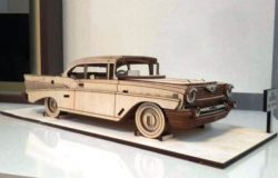 Chevrolet Bel Air 1957 For Laser Cut Cnc Free DXF File