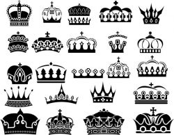 Collection Of Royal Crown For Laser Cut Free DXF File