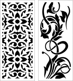 Design Pattern Panel Screen 201 For Laser Cut Cnc Free DXF File