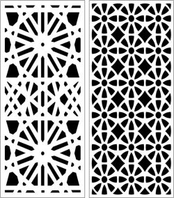 Design Pattern Panel Screen 202 For Laser Cut Cnc Free DXF File
