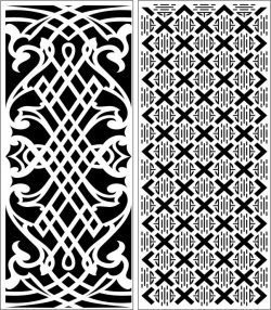 Design Pattern Panel Screen 203 For Laser Cut Cnc Free DXF File