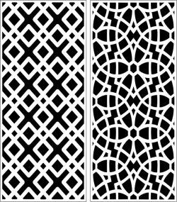 Design Pattern Panel Screen 204 For Laser Cut Cnc Free DXF File