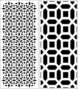Design Pattern Panel Screen 243 For Laser Cut Cnc Free DXF File