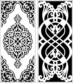 Design Pattern Panel Screen 247 For Laser Cut Cnc Free DXF File