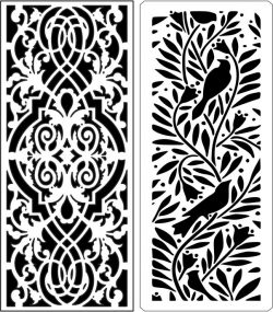 Design Pattern Panel Screen 114 For Laser Cut Cnc Free DXF File