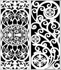 Design Pattern Panel Screen 112 For Laser Cut Cnc Free DXF File