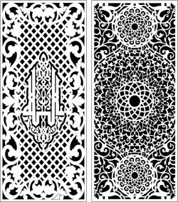 Design Pattern Panel Screen 11 For Laser Cut Cnc Free DXF File