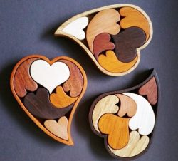 Heart Puzzle For Laser Cut Free DXF File