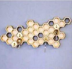 Honeycomb Key Holder For Laser Cut Free DXF File