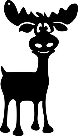 Lovely Reindeer For Laser Cut Plasma Decal Free DXF File