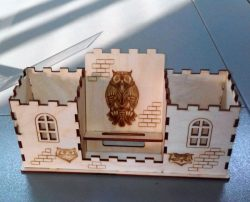 Owl House Organizer For Laser Cut Free DXF File