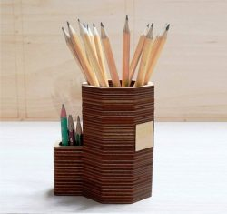 Pencil Stand For Laser Cut Cnc Free DXF File